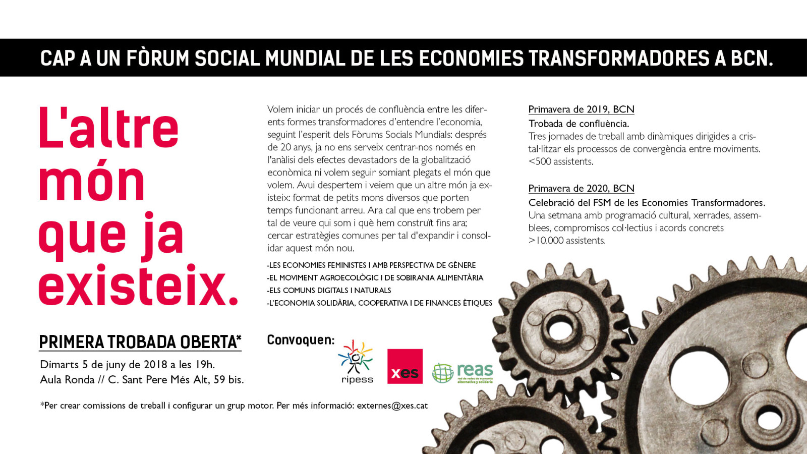 Cap a un Fòrum Social Mundial de les economies transformadores a Barcelona