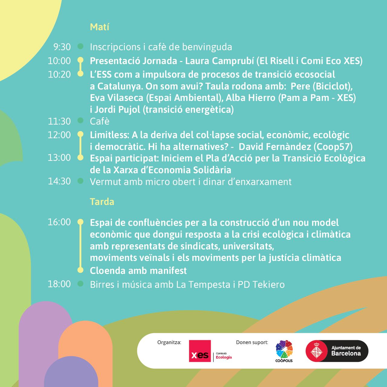Programa jornades ecologia i ESS