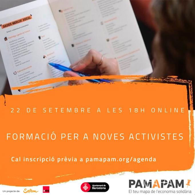 Formació per a noves activistes de Pam a Pam online @ online