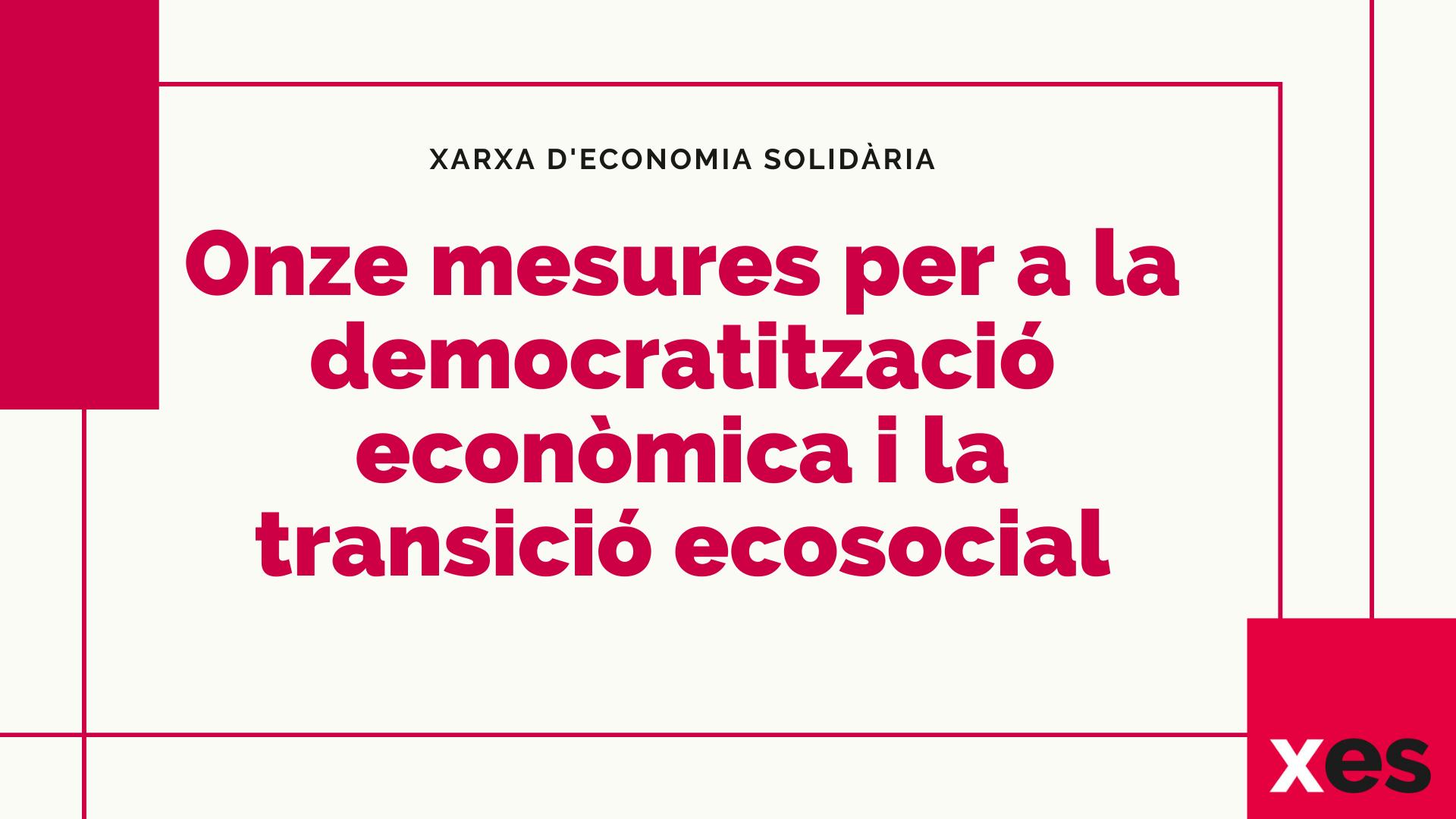 11 mesures transició ecosocial