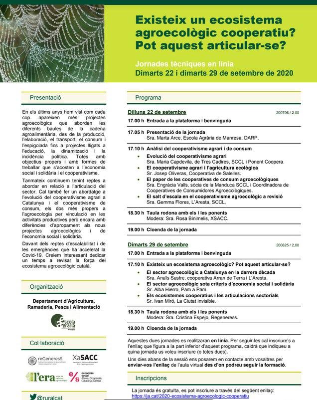 """Taula de debat """"Anàlisis de les articulacions actuals i de la relació amb l'ESS"""" @ online"""