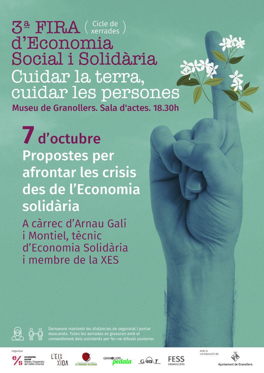 Xerrada: Propostes per afrontar les crisis des de l'Economia Solidària @ Museu de Granollers, Sala d'Actes
