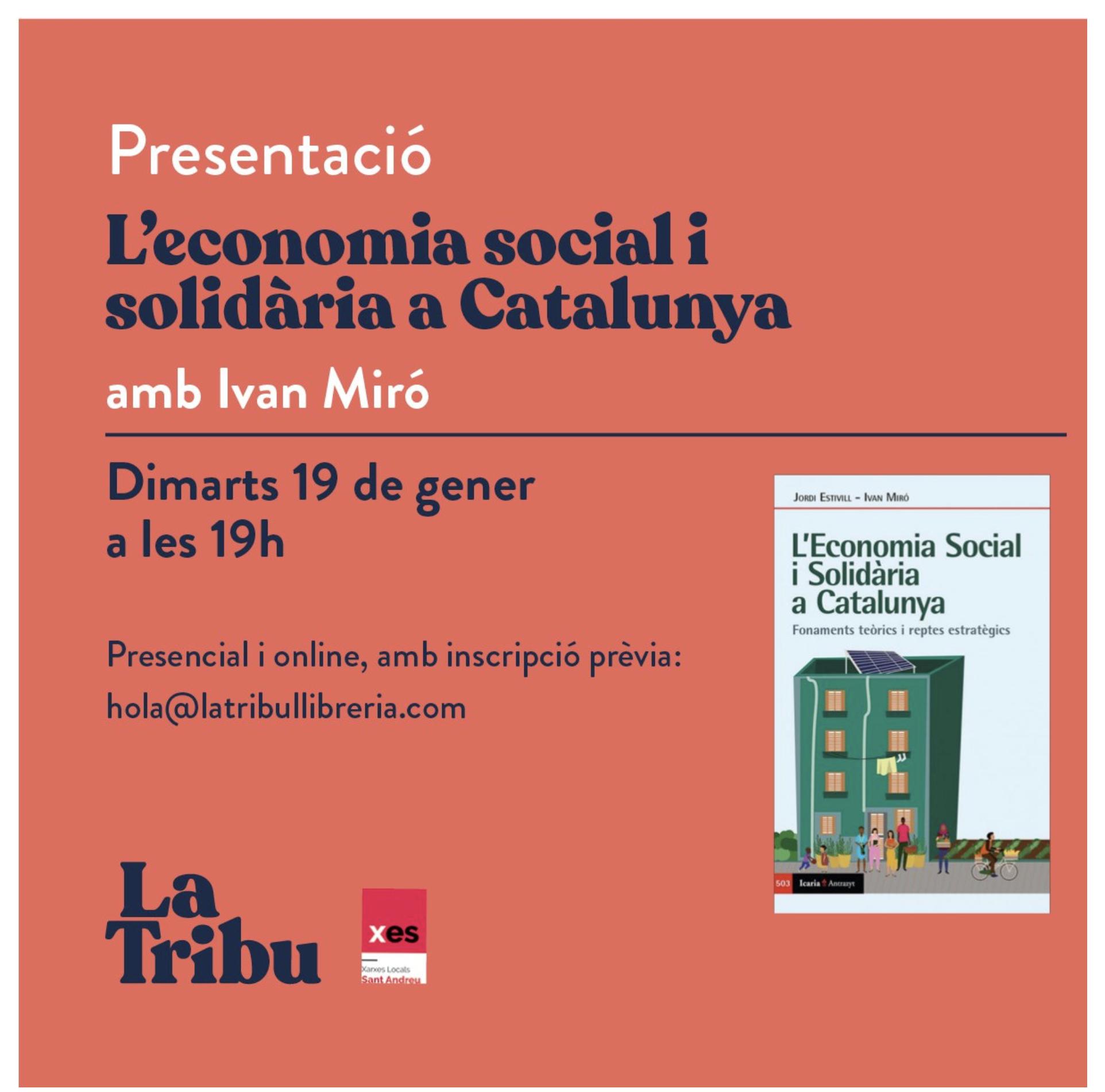"""Presentació llibre """"L'economia social i solidària a Catalunya"""" @ La Tribu"""