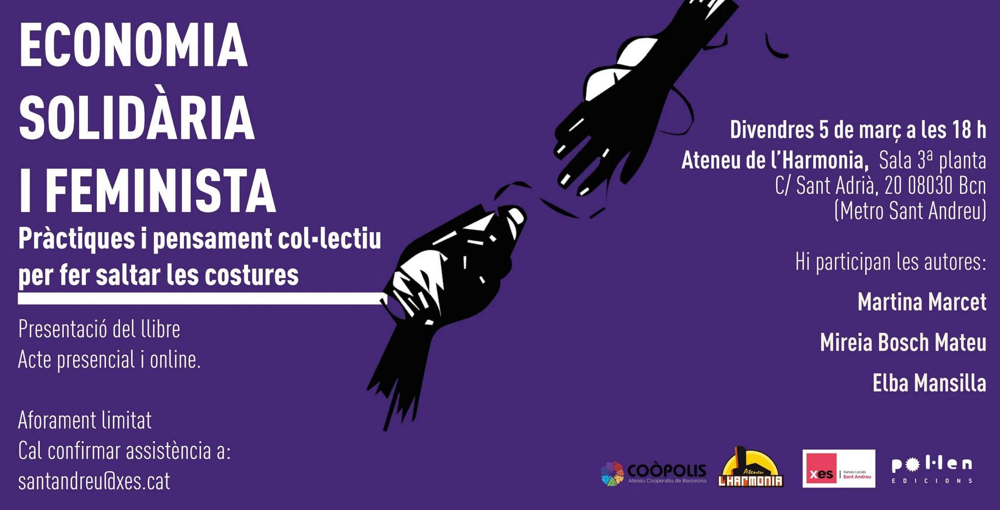 Presentació llibre Economia Feminista i Solidària a Sant Andreu