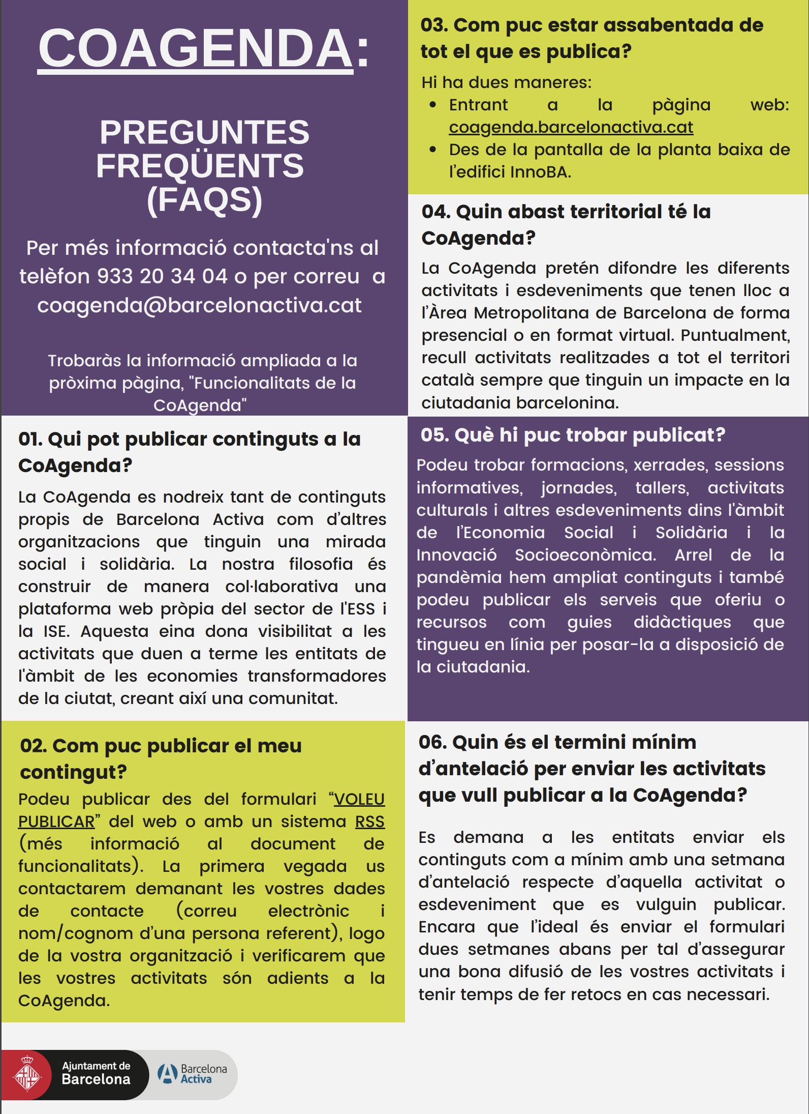 FAQS Coagenda